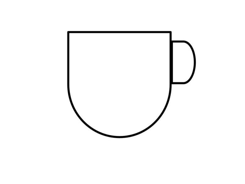 縁がまっすぐで幅が薄いカップ