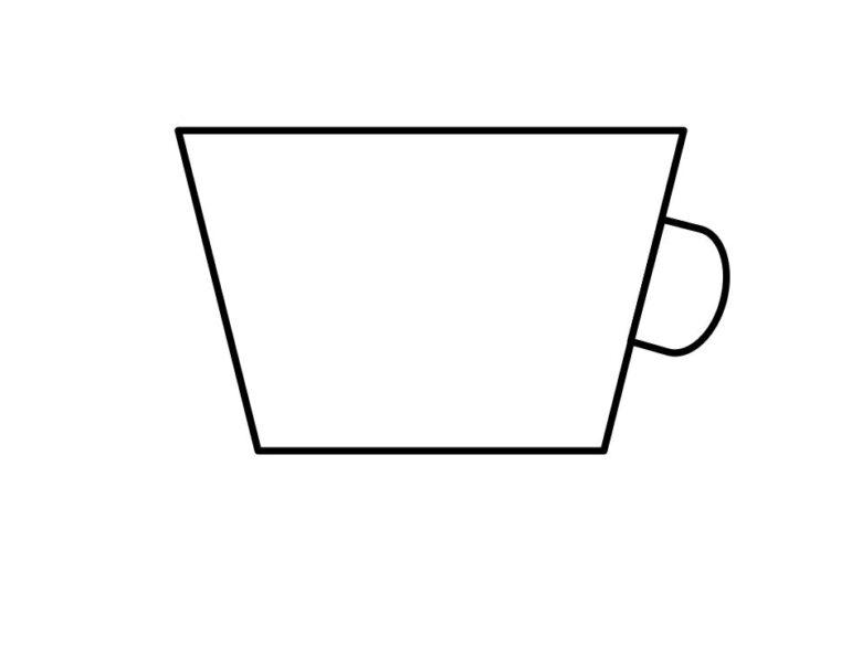 縁が広くて幅が薄いカップ